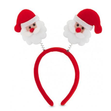 Diadema antenas Papá Noel