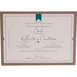 Invitación boda Edima Natural 704