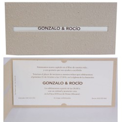 Invitación boda Edima Natural 718