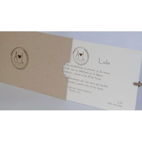 Invitación boda Edima Natural 719