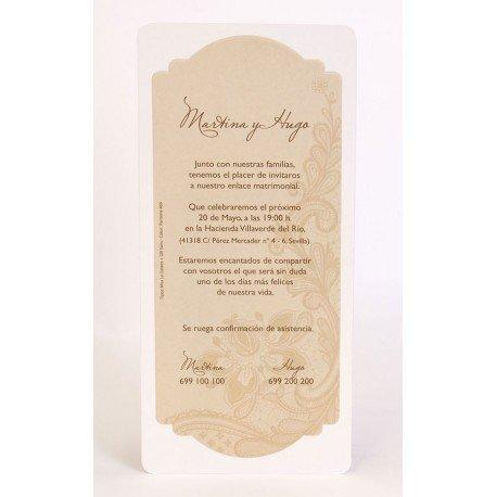 Invitación boda Edima Natural 722