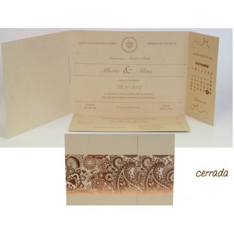 Invitación boda Edima Natural 714