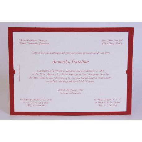 Invitación boda Edima Marina 712