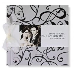 Libro de firmas boda Plata y Negro