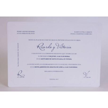 Invitación boda Edima Tradición 548