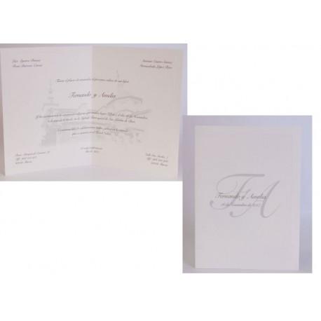 Invitación boda Edima Tradición 546
