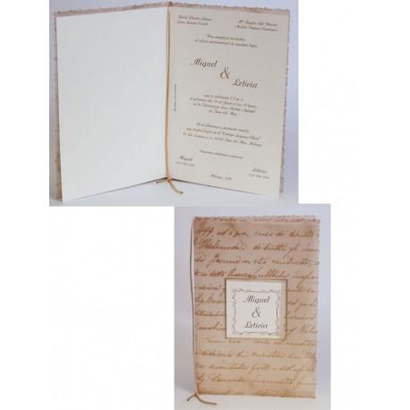 Invitación boda Edima Pergamino 316