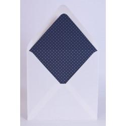 Pack de 25 sobres blancos con forro interior lunares