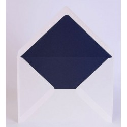 Pack de 25 sobres blanco brillo con forro interior metalizado