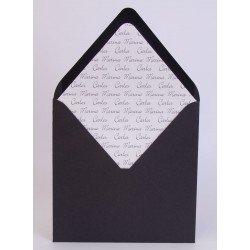 Pack de 25 sobres negros con forro interior blanco brillo