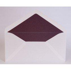Pack de 25 sobres blanco brillo y forro interior morado brillo