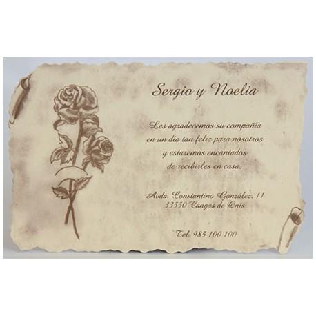 Tarjeta agradecimiento boda 133
