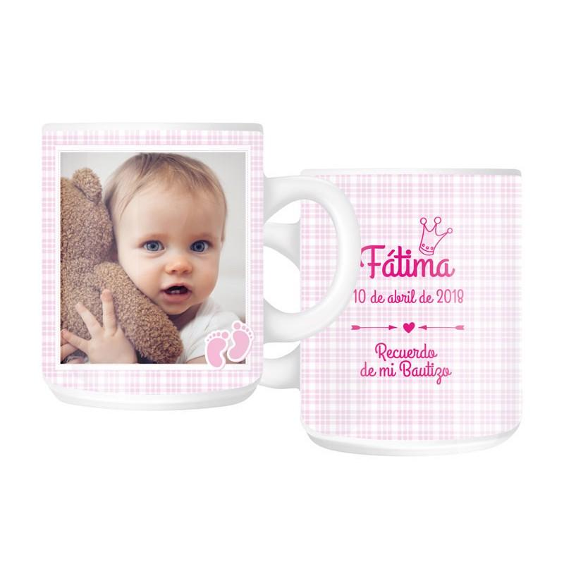 1ddca7afa Regalos bautizo  taza mug personalizada niña. Regalos originales