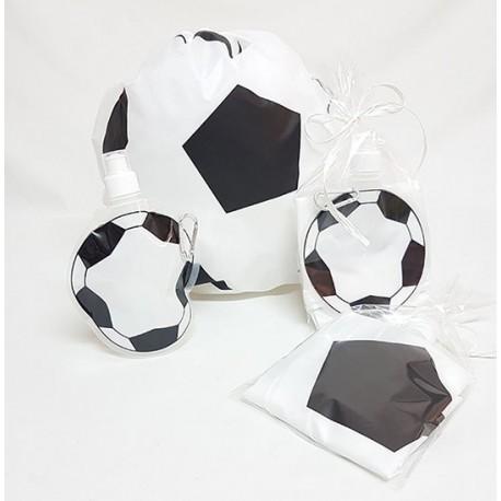 Mochila y botella balón fútbol, detalles para niños