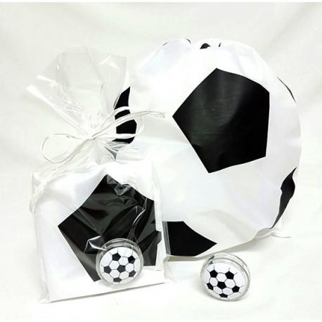Mochila con forma de balón y yo-yo fútbol