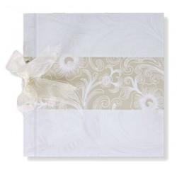 Libro de firmas boda Banda en crema