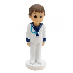 Figurita niño marinero cordón azul ancla