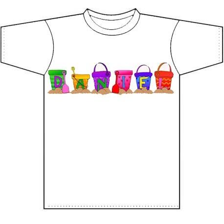 Camiseta personalizada con el nombre del niño