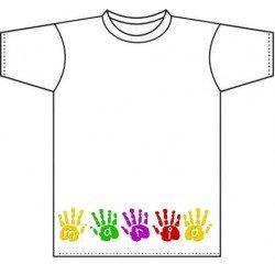 Camiseta blanca niños diseño High Five