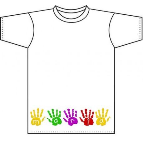 Camiseta infantil personalizada con manos de niño