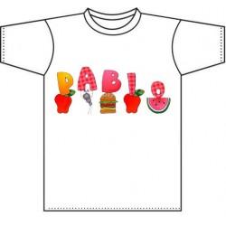 Camiseta blanca niños diseño Ant Parade