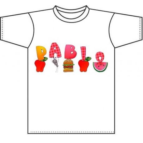 Camiseta para niños personalizada con el nombre