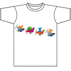 Camiseta blanca niños diseño Plane