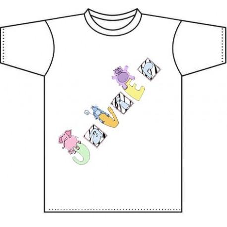 Camiseta para niños personalizada Baby animals