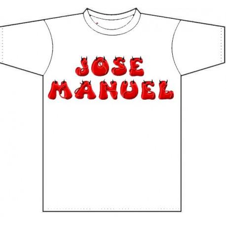 Camiseta infantil personalizada con el nombre del niño
