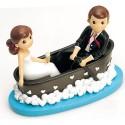 Figura para el pastel boda novios en barca