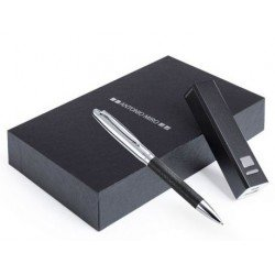 Set bolígrafo y cargador USB en caja regalo