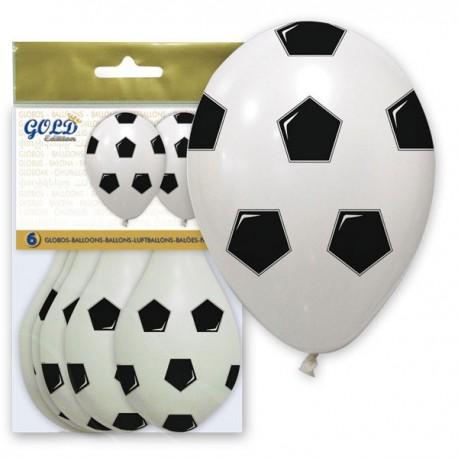 Globos con forma de balón fútbol