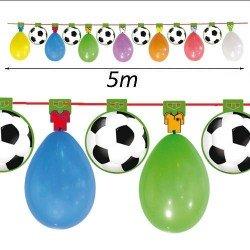 Guirnalda fútbol con globos