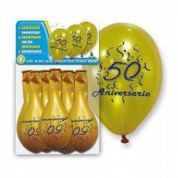 Globos aniversario de boda 50 años