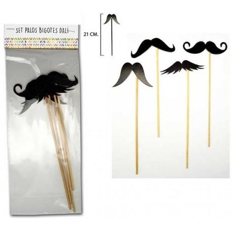 PhotoCall set de postizos bigotes Dalí