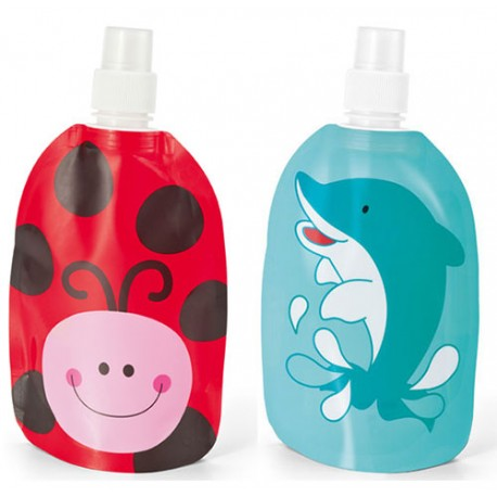 Botella infantil plegable