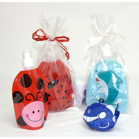 set de botella plegable infantil y mochila plegable animals