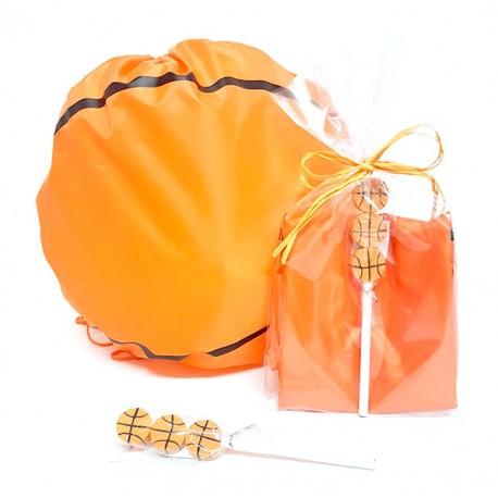 Mochila infantil con forma de balón, lápiz con gomas baloncesto