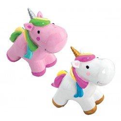 Hucha Unicornio surtidas en blanco y rosa