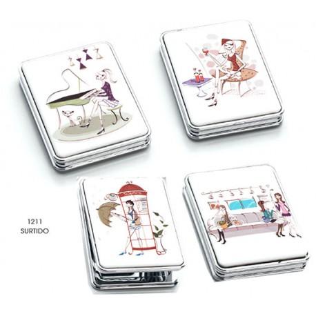 Espejo doble rectangular chicas, 4 modelos