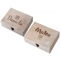 Caja madera personalizada Comunión
