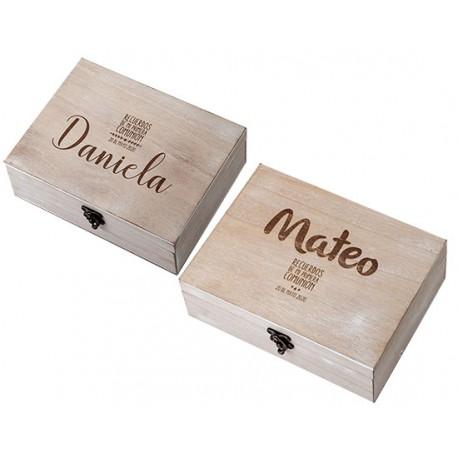 Caja de madera personalizada para Comunión