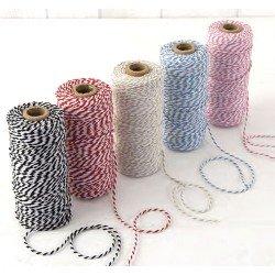 Cordón en algodón bicolor doce hilos
