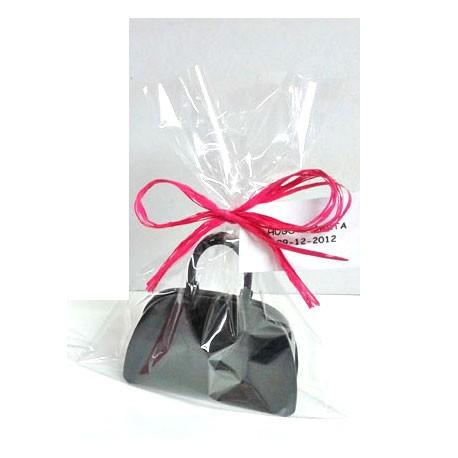 Atomidadores en abs forma bolso con tarjeta personalizada