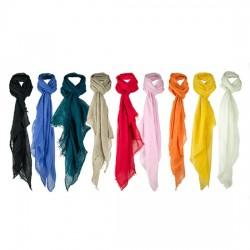 Foulard colores lisos en Viscosa