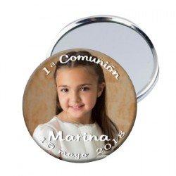 Chapa espejo personalizada con foto 5,5 cm.