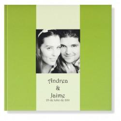 Libro de firmas boda Verde lima