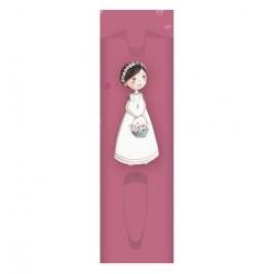 FUNDA, para bolígrafo niña Comunión con cesta flores