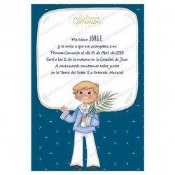 Invitación Primera Comunión niño con espiga