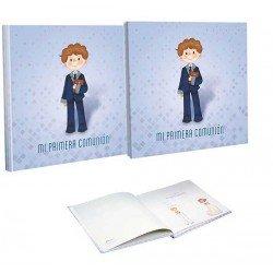 Libro de firmas Comunión con estuche niño con traje